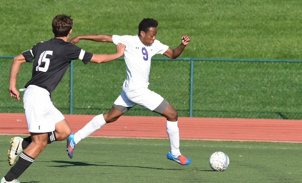 Naphtali Eke had two goals and three assists against the Soldiers. Photo by Pam Keeven.