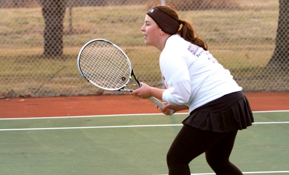 Michelle Tulchinskaya has the most wins in STLCOP tennis history. Photo by Kathy Arnold.