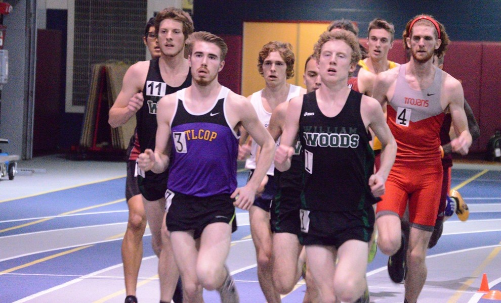 Murphy Affolder claimed his second all-conference award in the 1000m on Friday. Photo by Reid Cure.