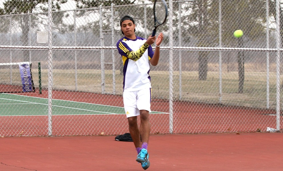 Team captain Sheldon Taylor clinched the match for the Eutectics with his 6-3, 7-5 win a number-six singles. Photo by Kathy A