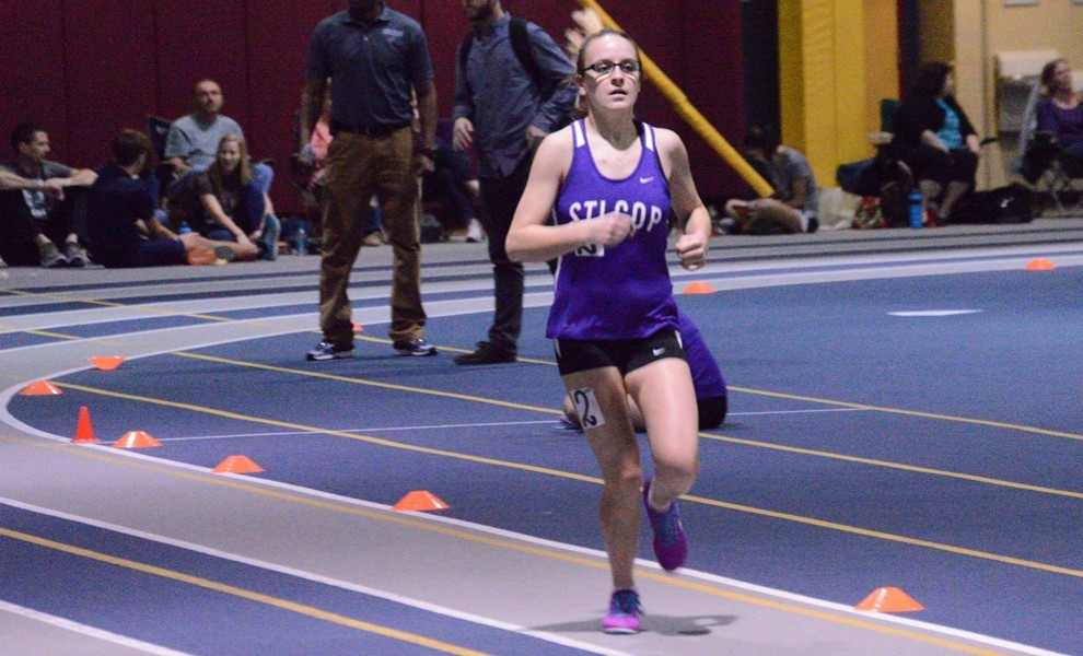 Taylor Prusa finished sixth in the 600m and ran a leg of the 4th-place 4 x 800m relay team. Photo by Reid Cure.