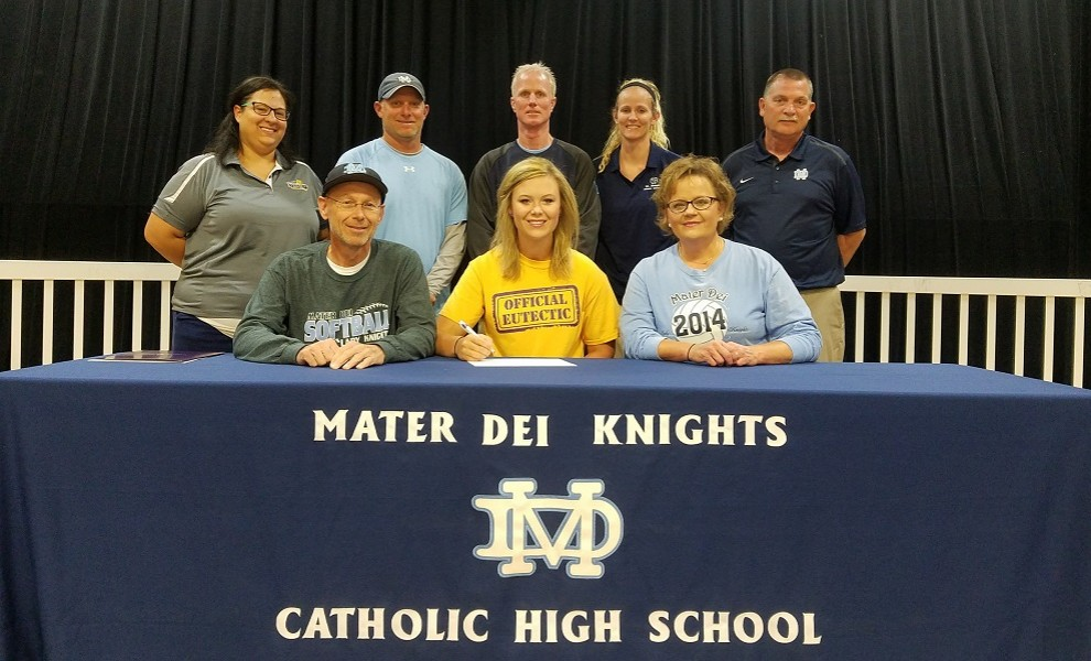 Aften Richter signs a letter of intent to play softball and volleyball at STLCOP.
