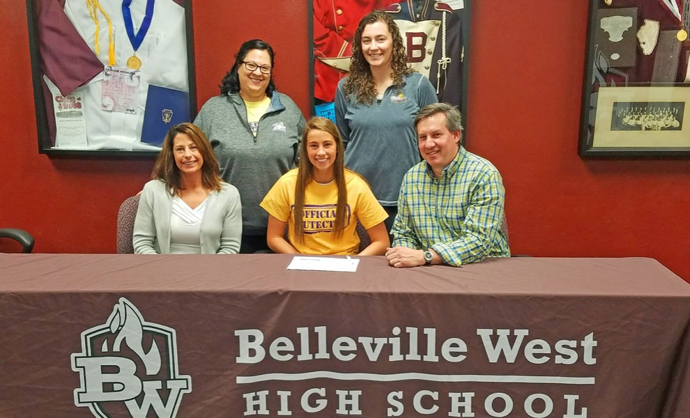 Kacie Kinnikin signs a letter of intent to play for the Eutectic volleyball team.
