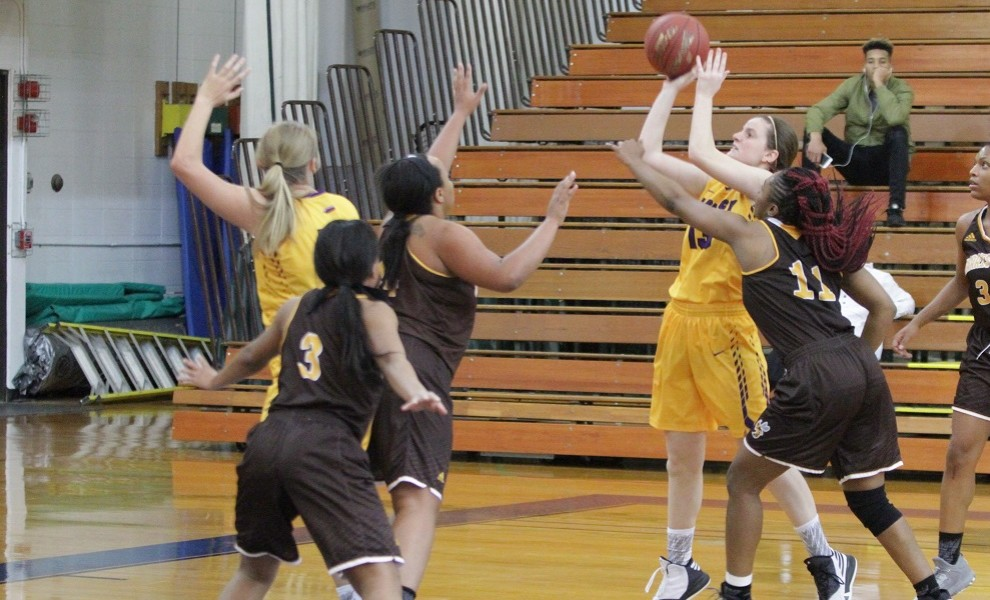 Katherine Campbell put in four points against the Scots. Photo by Kathy Arnold.