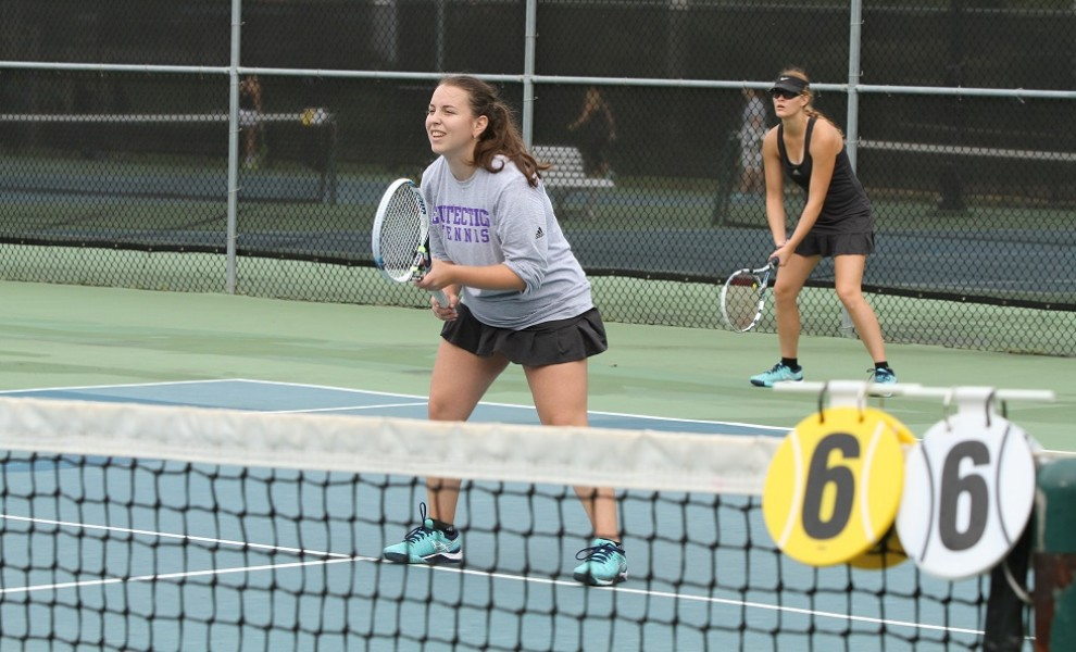 STLCOP's No. 1 doubles team of Michelle Tulchinskaya and Emily Stevenson remains undefeated.