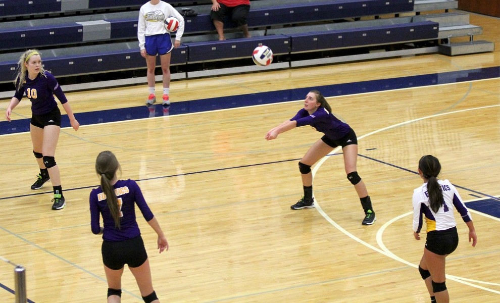 Team captain Amy Rotella makes a pass. Photo by Kathy Arnold.