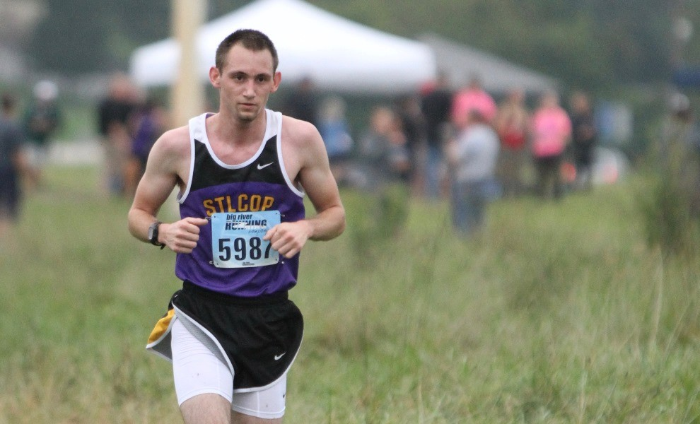 Casey Moore was one of seven STLCOP runners to post a season PR on Saturday. Photo by Kathy Arnold.