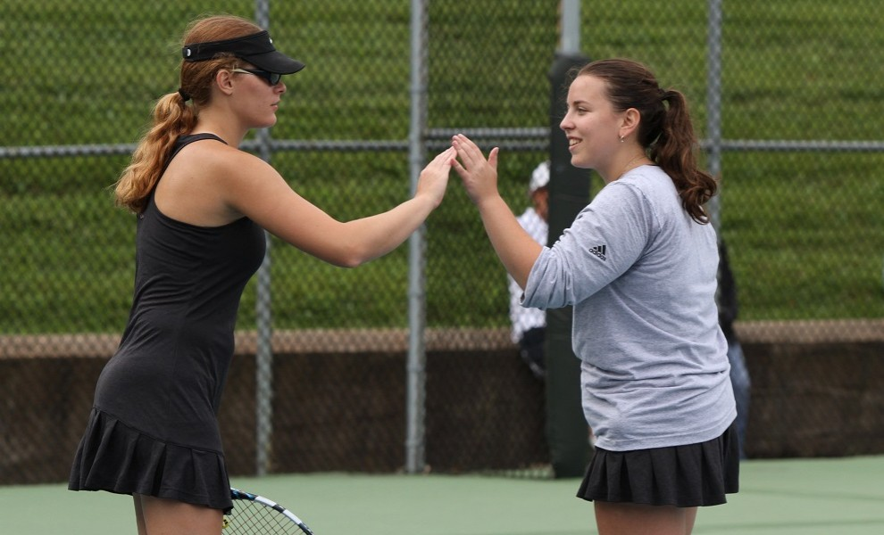 Doubles partners Emily Stevenson and Michelle Tulchinskaya broke the STLCOP record for Single Season Doubles wins.