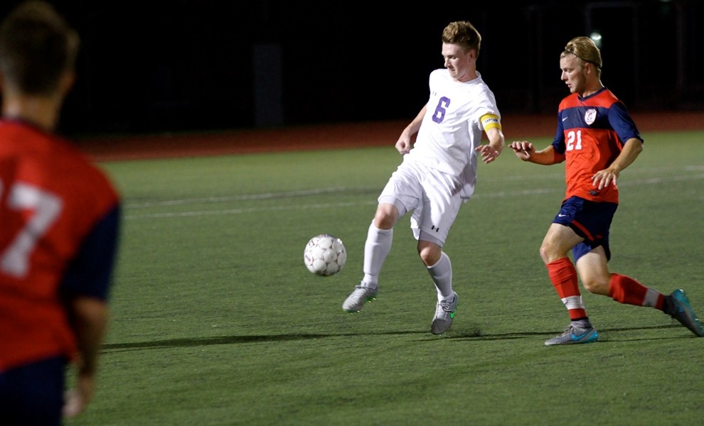 Thomas Jamieson left his starting position at midfield to break at STLCOP record at goal. Photo by Kathy Arnold.